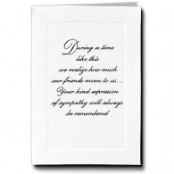Embossed Panel Acknowledgment Cards