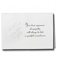 Embossed Lilies Acknowledgment Card