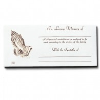 Praying Hands Bequest Envelope