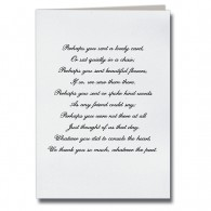 Lovely Card Poem Acknowledgement Card