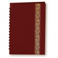 Burgundy Classic Scroll Leatherette Register Book