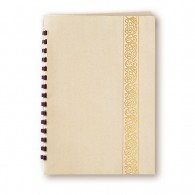 Ivory Classic Scroll Leatherette Register Book