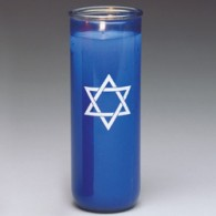 Jewish Sanctuary Candle: Blue