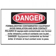 Danger Formaldehyde Equipment