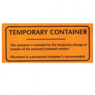 Temporary Container Label