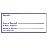 Cremation Container ID Label