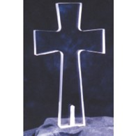 Peace Light - Clear Cross