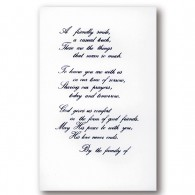 Vertical Flat Panel Acknowledgment Card