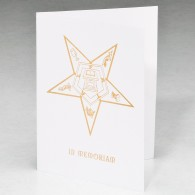Eastern Star Acknowledgment Card