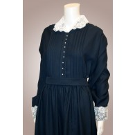 Dress - Polyester w/Lace Collar