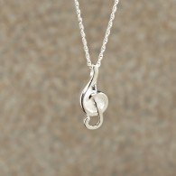 Music Note Pendant: Sterling Silver