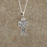 Celtic Cross Pendant: Sterling Silver