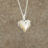 Mother of Pearl Heart Pendant: Sterling Silver