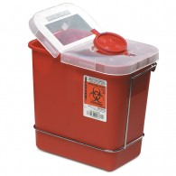 Sharps Container shown with Non-Locking Wall Bracket