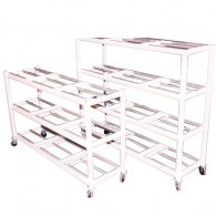 Body Storage Rack With Casters