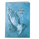 Blue-Toned Praying Hands Acknowledgment Card