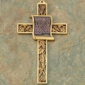 Gold Scroll Cross: Lord's Prayer