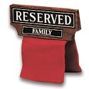 Hardwood Over the Chair/Pew Reserved Family Sign