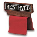 Hardwood Over the Chair/Pew Reserved Sign