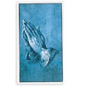 Blue-Toned Praying Hands Prayer Cards