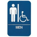 Mens Handicapped Restroom Sign