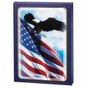 Patriotic Deluxe Register Book: Blue