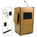 Multimedia Computer Lectern: Cherry