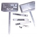 Stamped Aluminum Grave Markers 36/set