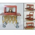 Urn Display Tray w/Cherry Cabinet