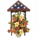 Flag Display Stand (shown with presidental flag case and floral arrangement)
