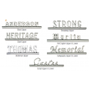 Hearse Name Plate CALLIGRAPHY